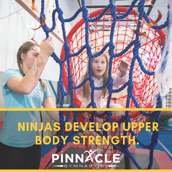 Ninjas develop upper body strength