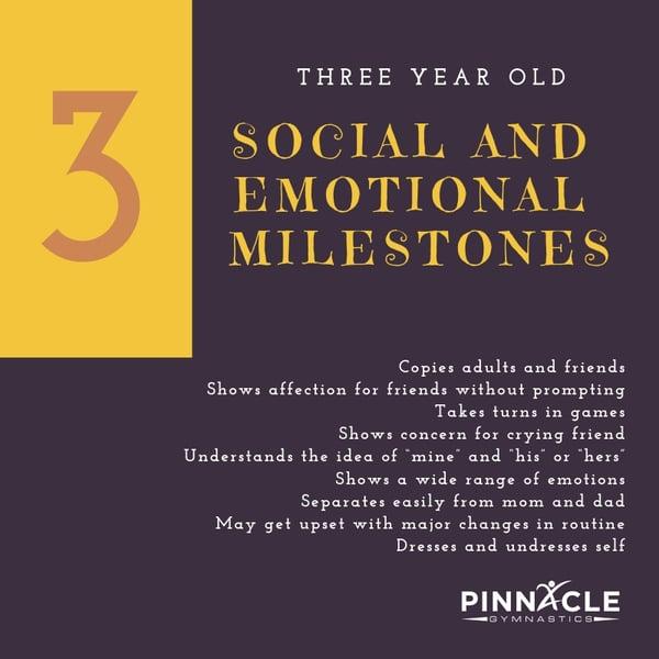 3 Year Old Social Milestones