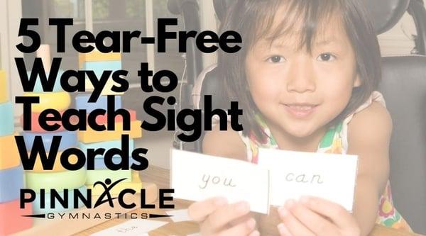 5 Tear-Free Ways to Teach Sight Words