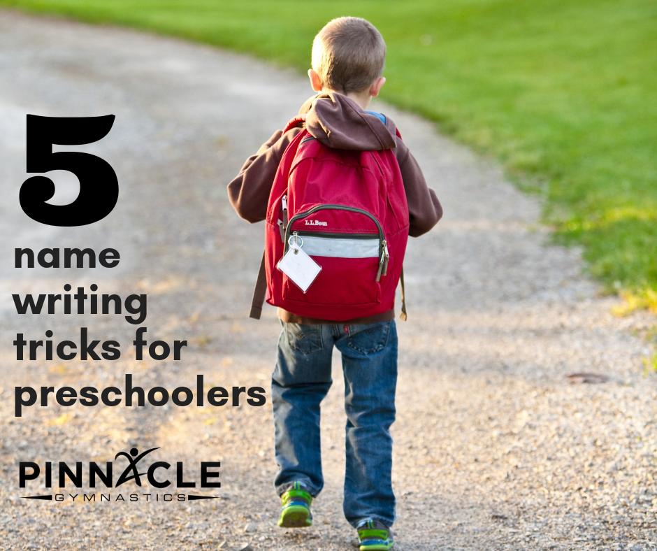5 name writing tricks for preschoolers