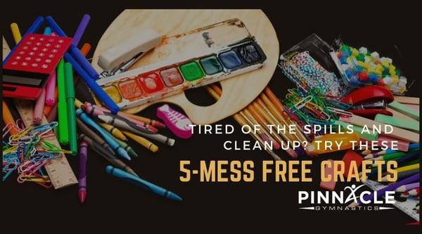 5-mess free crafts