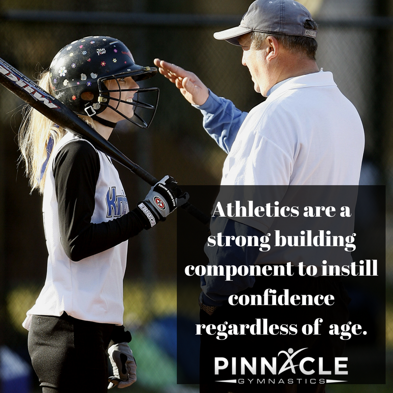 Athletics are a strong building component to instill confidence no matter the age of the person