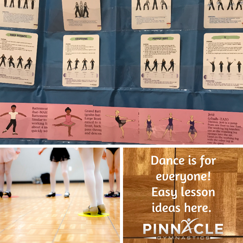 Dance is for everyone! Easy lesson ideas here.