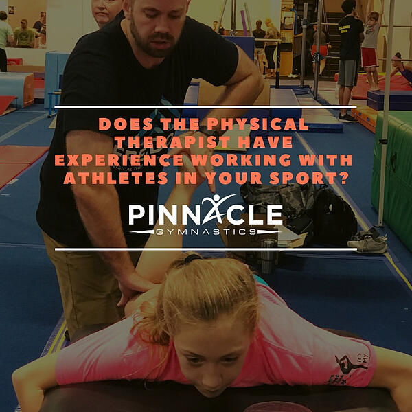 Does the Physical Therapist have experience working with athletes in your sport?