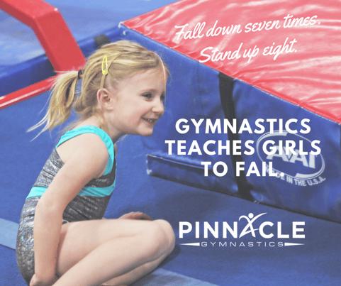 Gymnastics teaches girls to fail