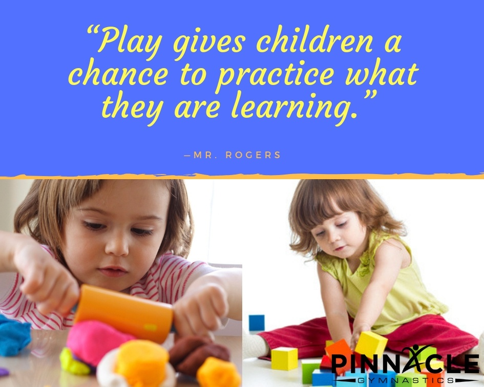 Play gives children a chance to practice what they are learning
