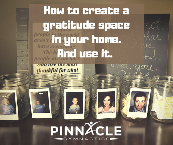 How to create a gratitude space in your home.