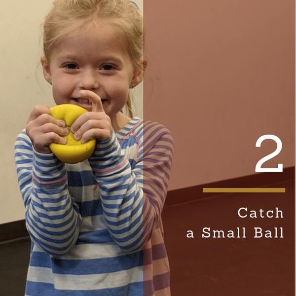 gross motor catch a small ball