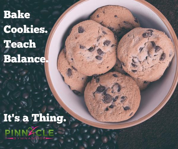 Teach balance to kids with baking