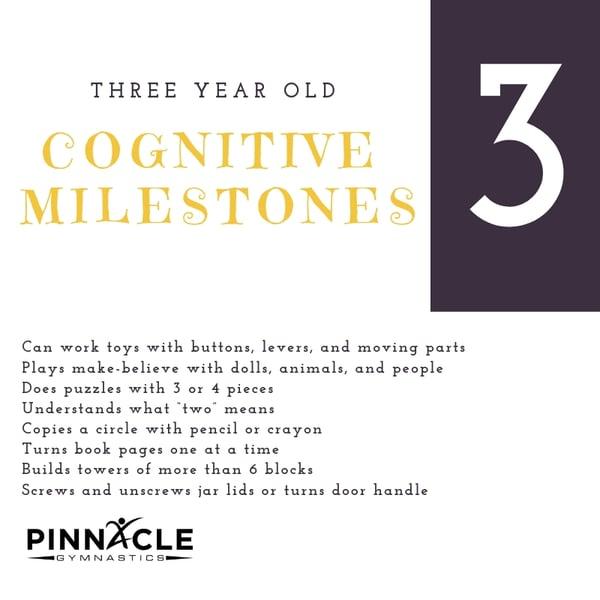 Three Year Old Congnitive Milestones