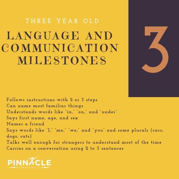 Three Year Old Language Milestones