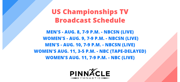 US Championships TV Broadcast Schedule