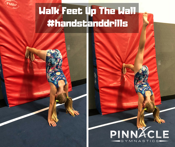 Walk Feet Up The Wall #handstanddrills