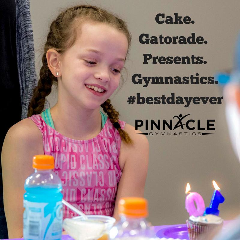 Gymnastics Birthday Party Kansas City